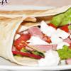 Wrap salade, tomate – mozza et filets de canard fumés