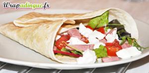 Wrap salade tomate mozza