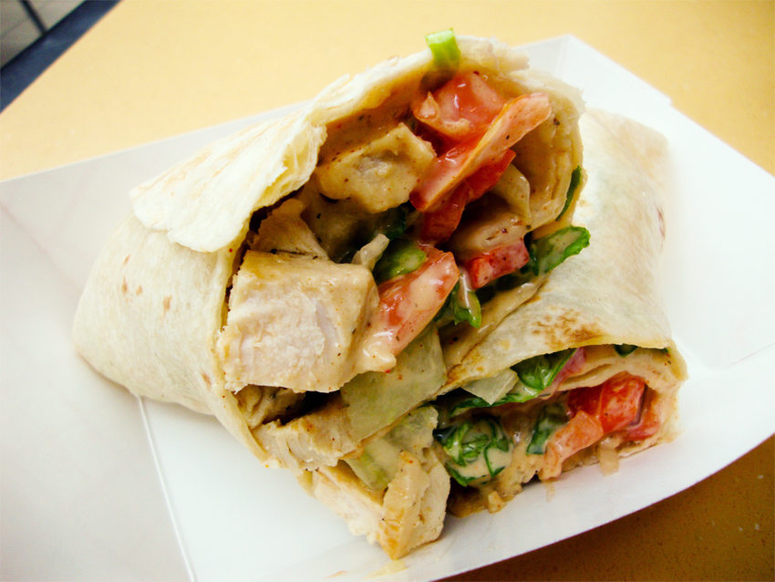 Wrap poulet moutarde
