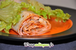 Wrapizza : tomate, jambon, fromage